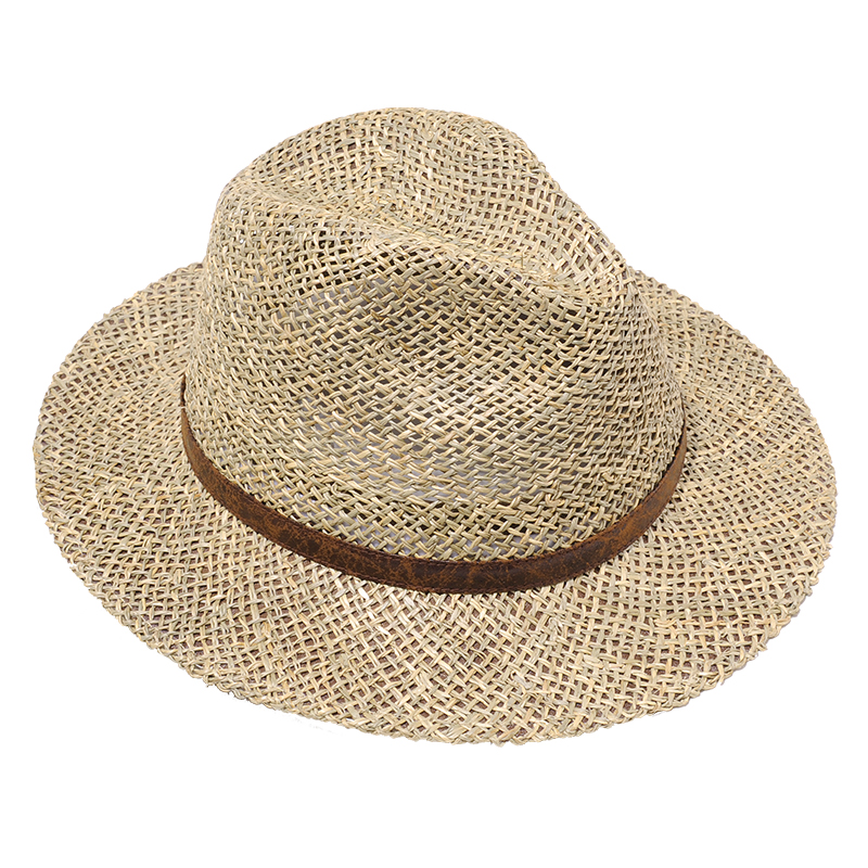 37d8b8402c9 FS Summer Panama Hats Men Wide Brim Straw Sun Hat For Women Hollow Out Beach  Fedora Chapeu With Ribbon Jazz Gangster Cap -in Sun Hats from Apparel ...