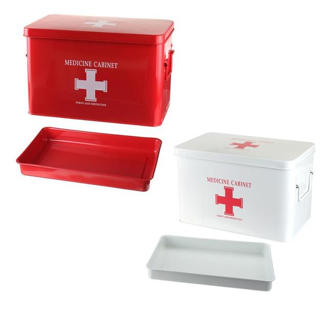 NEW Metal Medicine Cabinet Multi Layered Family Box First Aid Storage Box  Storage Medical Gathering