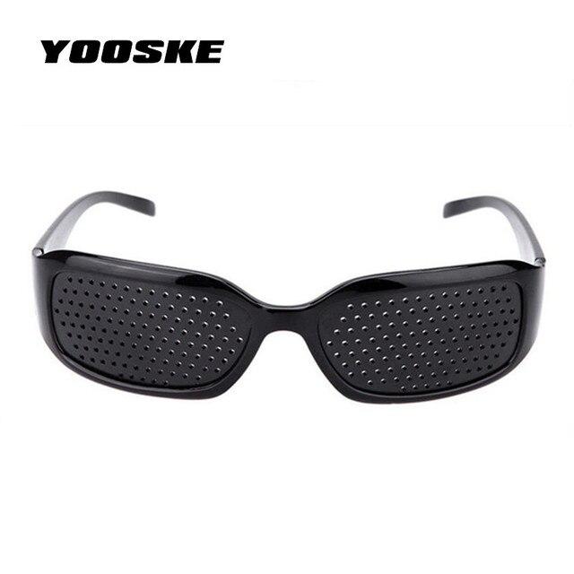 d58c800548 YOOSKE Anti-myopia Pinhole Sunglass Men Women Glasses Improve Vision  Goggles Anti-fatigue Care Pin hole Microporous Eye Exercise