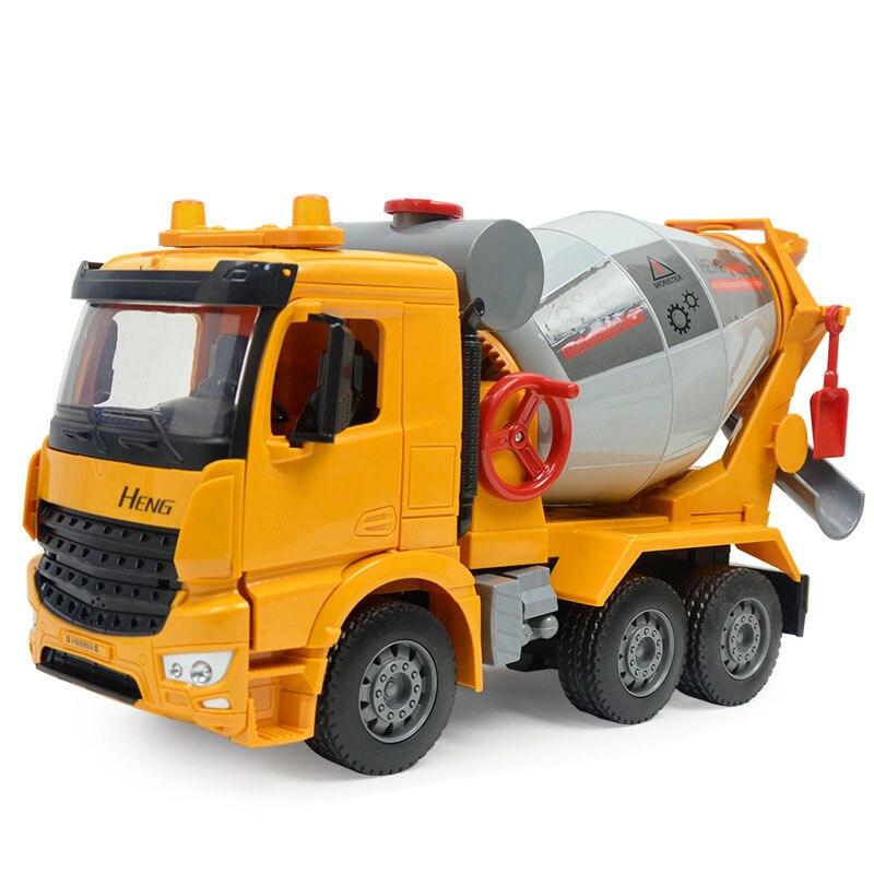 inércia e simulação leve, caminhão de concreto,