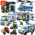 City block 52011-52015 Police Action Figures Classical DIY Assemble Police Model Building blocks Toy compatiable with
