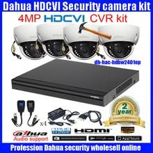 Original English DAHUA 4MP  VANDALPROOF CAMERA DH-HAC-HDBW2401EP cvi dome camera with 4MP Digital CVR  DH-HCVR7108H camera kit