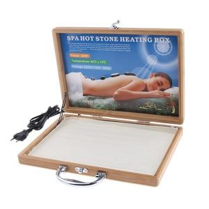 Image 3 - 1pcs Spa Massage Hot Stone Rock Heating Box  Case Massage Stone Warmer Case Heater EU Plug