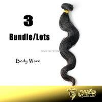 Free Shiping 12''~28'' Body Wave 3 Bundle/lots QWB Virgin Brazilian Hair Top Grade No Corn-Chip Smell
