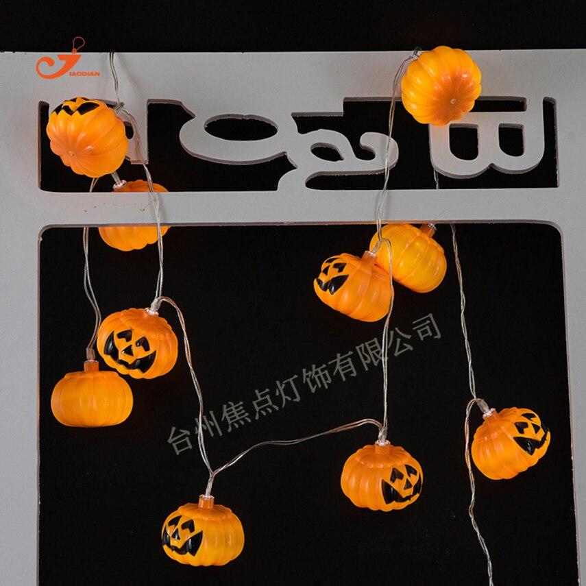 1.65 м Гирлянды светодиодные Хэллоуин Декор 10 головок Тыква череп Батарея на батарейках свет полосы Водонепроницаемый Открытый Garden Home лампа