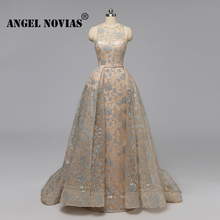 Angel Novias Long Real Picture Evening Dress 2019