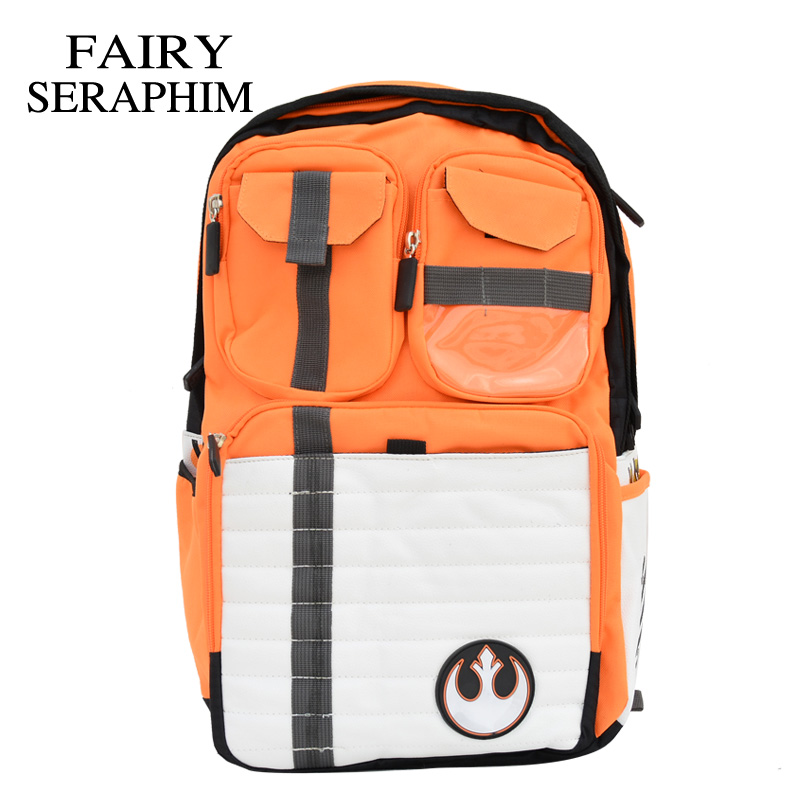 Fairy Seraphim New Star Wars Backpack Rebels Logo Alliance Icon Polyester Teenager School Bag Children Men Rucksack