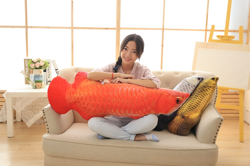 long creative plush red fish toy new soft Arowana pillow doll gift about 120cm гарнитура creative hitz ma2300 red