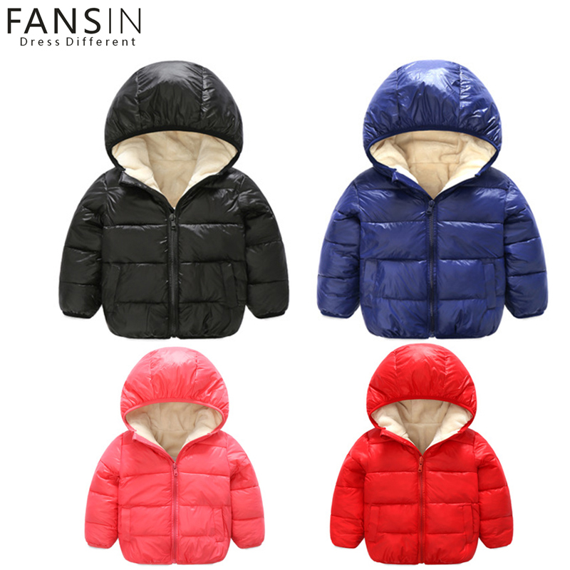 FANSIN Brand Baby Down Jacket 2017 Winter Warm Cotton Coat Boy Girl Outerwear Spring Autumn Kid Children Down Coats Clothes Gift 2017 winter baby coat kids warm cotton outerwear coats baby clothes infants children outdoors sleeping bag zl910