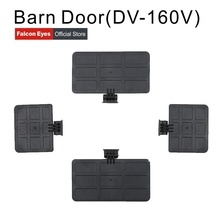 Puerta de Granero/soporte de Barndoor/barrera de luz Mini solo para Falconeyes DV 160V luz LED para cámara de vídeo de estudio