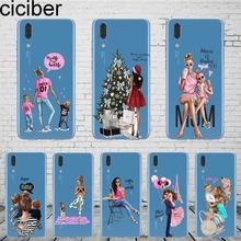 ciciber Queen Princess Super MaMa Mom Of Girls Baby Mom Girl Phone Case Cover For HUAWEI P20 Lite Honor 9 10 P9 P10 Plus Coqu