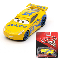 1 55 Disney Pixar Cars 3 Alloy Car Models New Roles Dinoco Cruz Ramirez Car Boy