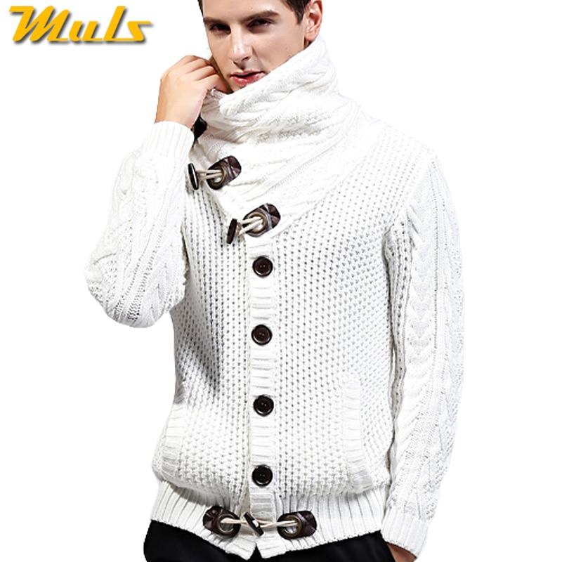 2017 Herbst Winter Neue Marke Männer Strickjacke Verdicken Lose Fit Acryl Warm Knited Männlich Sweatercoat Weiß Schwarz Muls M-4xl