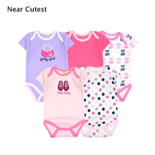 5pcs/lot Retial Short Sleeve Cartoon Carters Romper Baby Infant Rompers Boy Girl Clothes