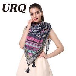 Wholesale art bohemia geometric floral tassel scarf muslim scarves hijab fashion brand design foulard fashion geometic.jpg 250x250