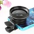 0.65x hd lente grande angular macro lentes da câmera para apple iphone 6/6 s plus para samsung para sony, Android Telefone Móvel Clipe Lente do Kit