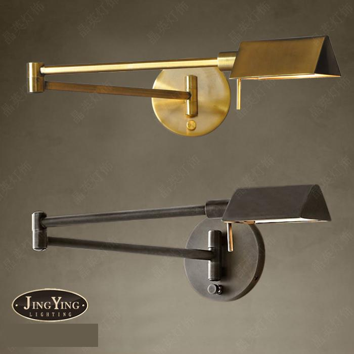 Bar rustic antique dimmable wall lamp light for project fashion shop bar rustic antique dimmable wall lamp light for project fashion shop adjustable retro wall light sconces restaurant lamp abajur in led indoor wall lamps aloadofball Image collections