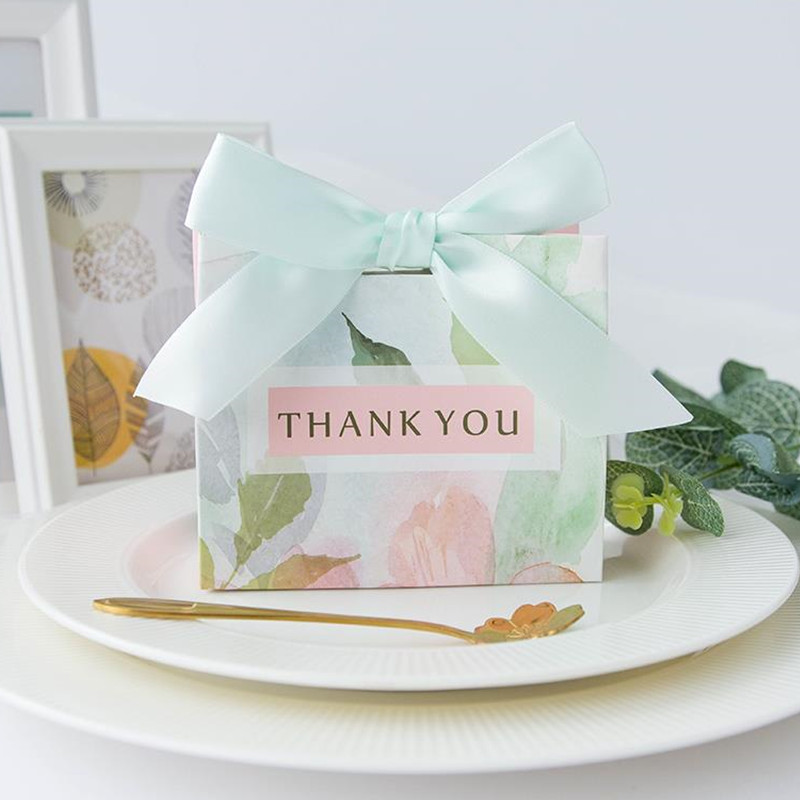 Thank You Printed Candy Bag Box For Party Table Decoration/Event Party Supplies/Wedding Favours Gift Boxes 25PCS