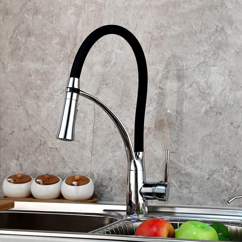 Permalink to kitchen faucet soild brass polished chrome kitchen faucet swivel pull down spout kitchen sink tap mixer torneira cozinha faucet