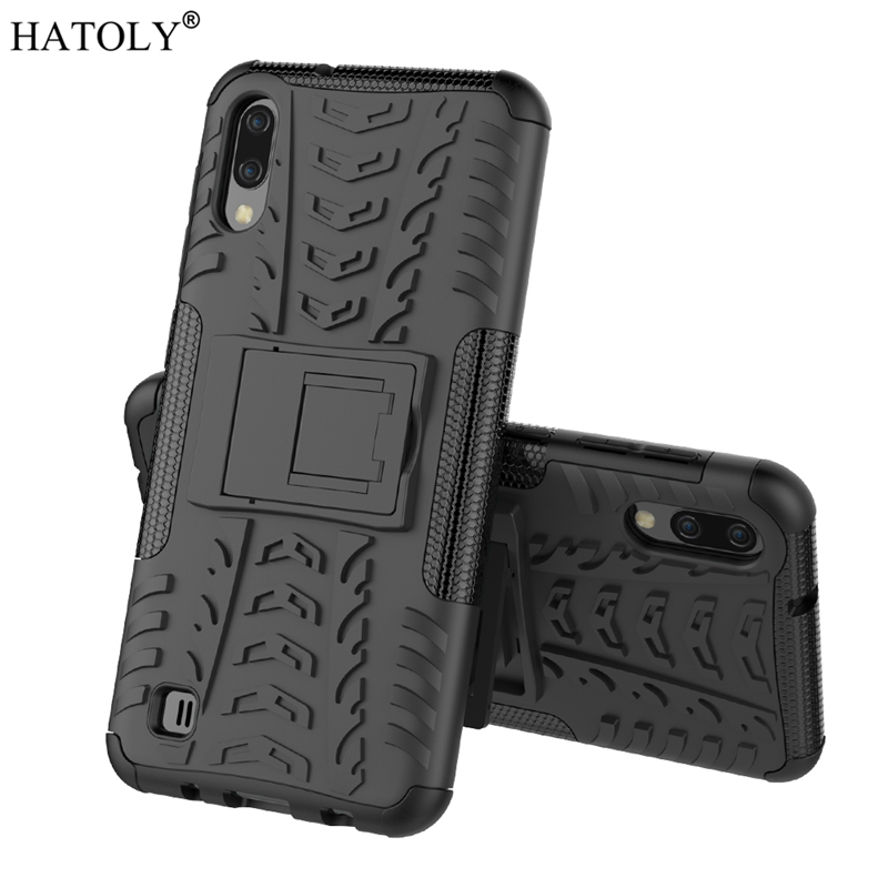For Samsung Galaxy M10 Case Armor Shell Hard Rubber Silicon PC Cover for Phone