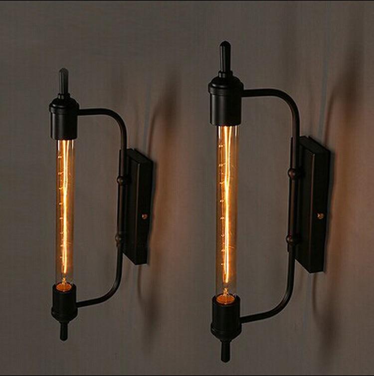 Американский ностальгию стиле кованого железа паропровода ресторан коридор светло-кафе свет бесплатная доставка