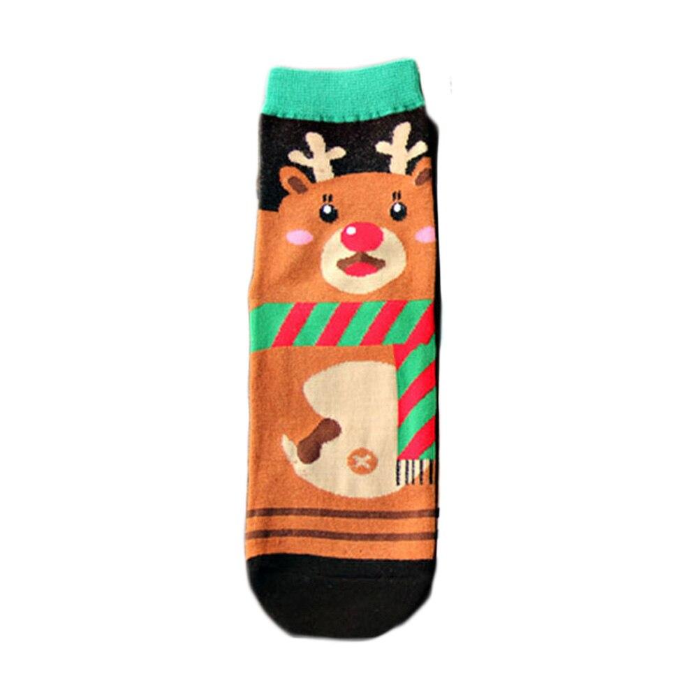 par de invierno de las mujeres patrn de animales de dibujos animados calcetines de navidad