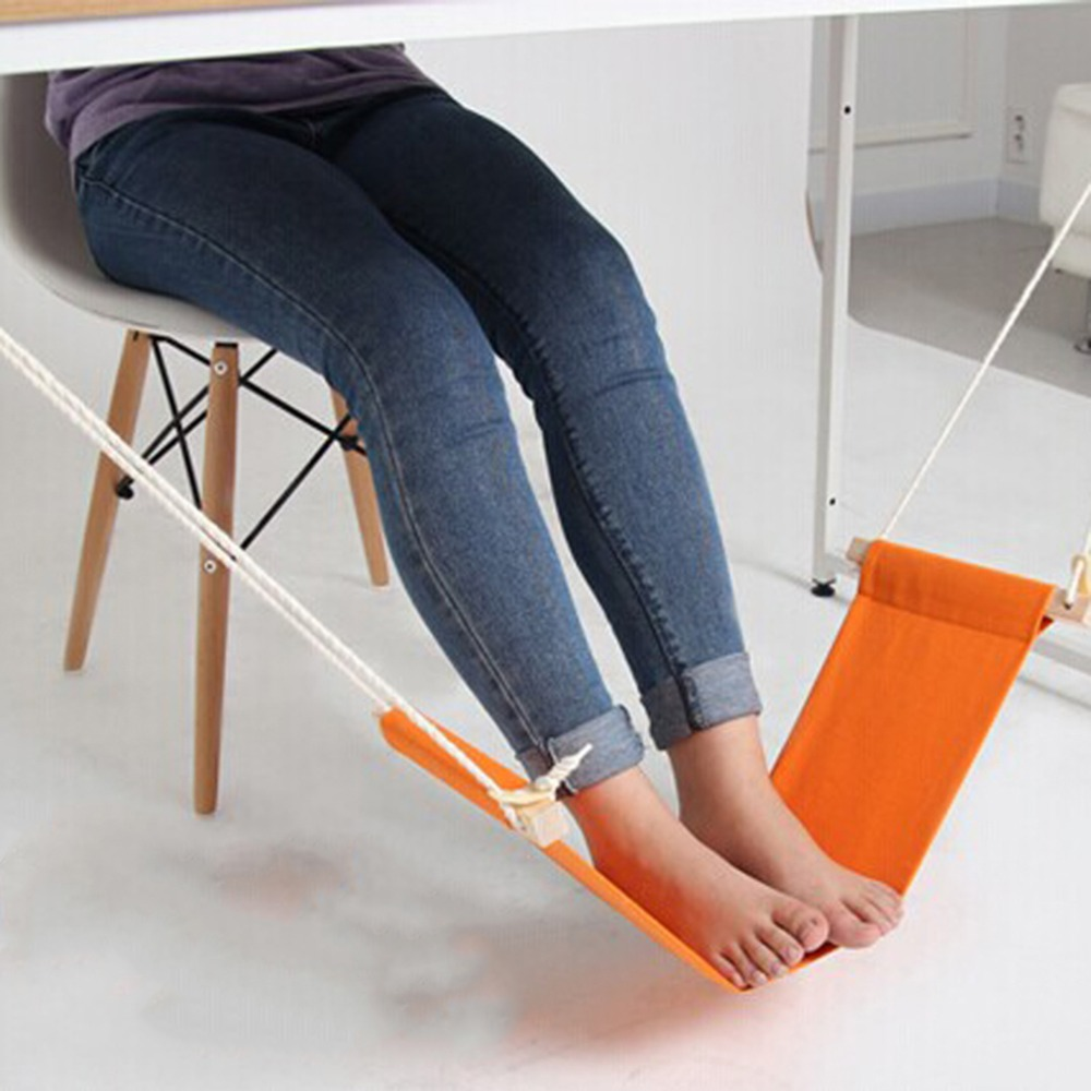 1Pcs Portable Novelty Mini Office Foot Rest Stand Adjustable Desk Feet Hammock Brand New adjustable carry on foot rest hammock for airplane train