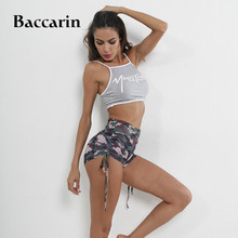 Women High Waist Shorts Camouflage Shorts Fashion Military Drawstring Casual Fitness Gym Sports Shorts drawstring waist eyelet geo crochet shorts page 4