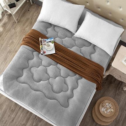 1M Foldable plush mattress Thick coral velvet tatami mattress single mattress student children slip double soft Free shipping