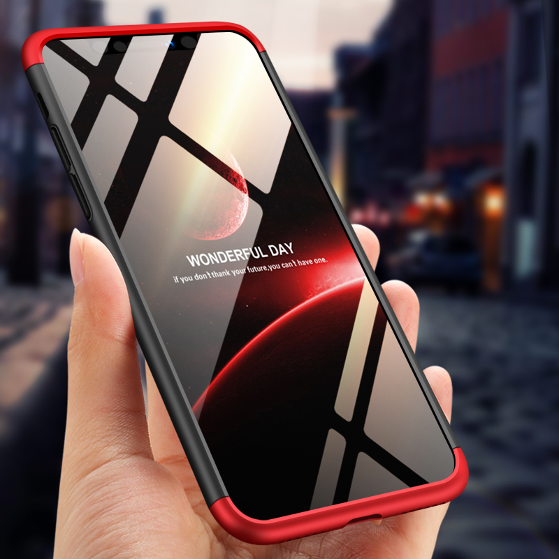 For iPhone XS Max 6.5inch Case 360 Degree Full Luxury 3-IN-1 Shockproof Frosted Shield Hard Back Cover Case For iPhone XSMaxCase (10)