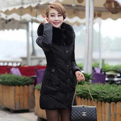 Winter Down Jacket Women Long Coat Parkas Thickening Female Warm Clothes Rabbit Fur Collar High Quality Overcoat A4206 fashion 2016 lengthen parkas female women winter coat thickening down winter jacket women outwear parkas for women winter w0033