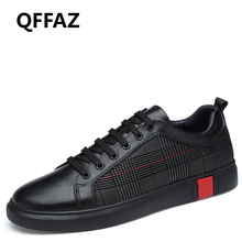 QFFAZ 2018 New Comfortable Casual Men Shoes High Quality Genuine Leather Shoes Men Moccasins Lace-Up Fashion Big Size 38-46
