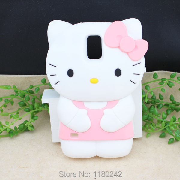 low priced dccdb f9de7 US $7.28 |For Samsung Galaxy S5 S V I9600 3D Hello Kitty Cat Silicone Back  Phone Case Cover Pink on Aliexpress.com | Alibaba Group