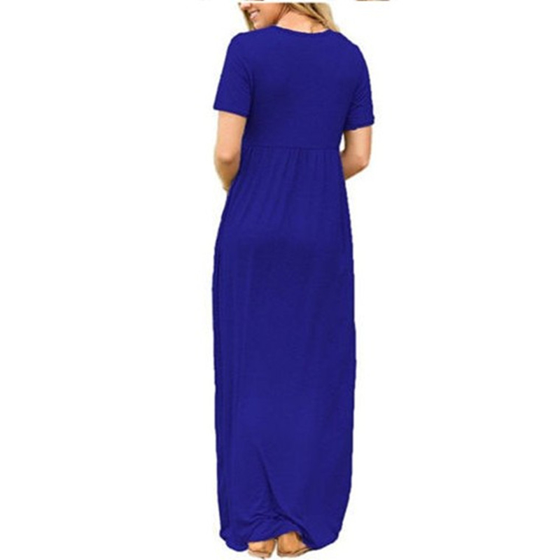 Fashion Cotton Women O-Neck Flare Sleeve Long Tent Dress Split Hem Bohemian Beach Loose Casual Dress Robe Femme Summer Vestido