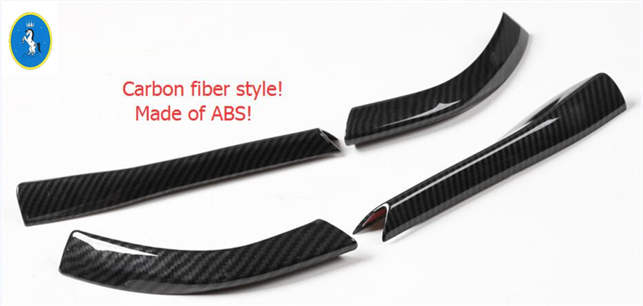 Carbon Fiber Style ! ABS For Ford Mustang 2015 2016 2017 High Quality Side Rearview Mirror Strip Pedestal Frame Cover Trim
