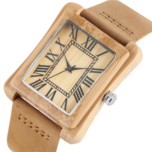 Leather Wood Roman Number Watches (3 Types)