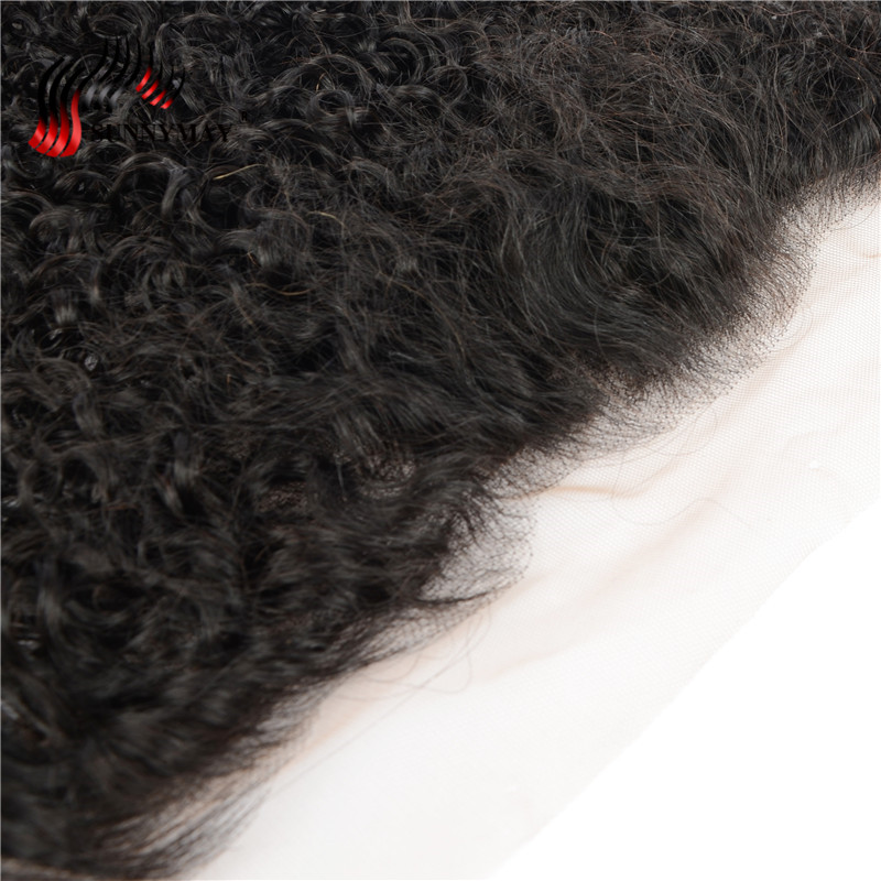 Sunnymay Brazilian Curly Lace Frontal 13x4 Ear to Ear Pre Plucked With Baby Hair Free Part