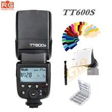 Godox tt600s 2.4g sem fio sistema x gn60/sincronização de alta velocidade 1/8000 s/0.1 ~ 2.6 s reciclar tempo tt600s + x1ts gatilho flash para sony camera