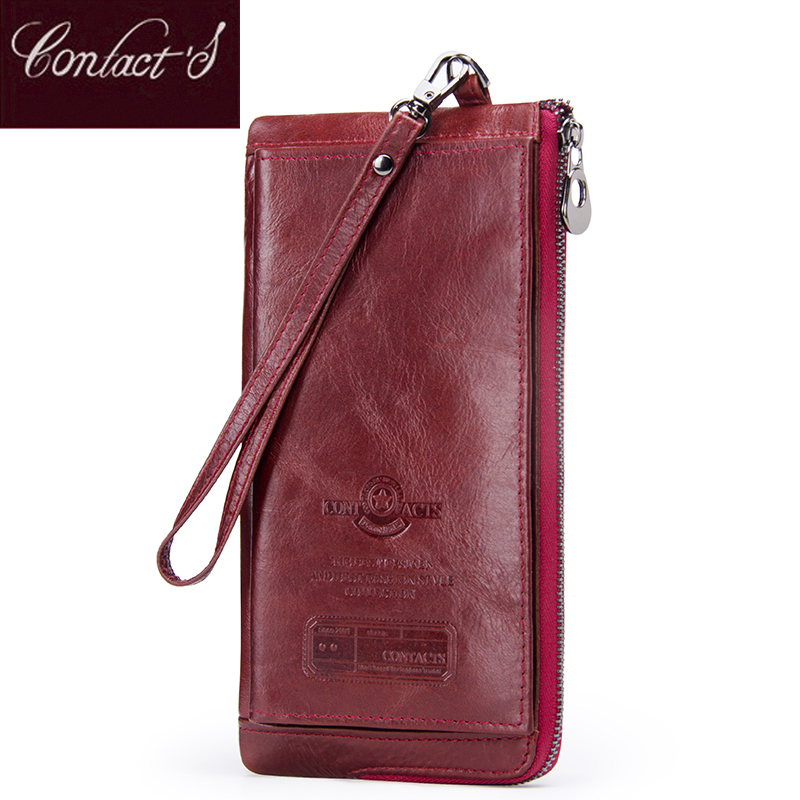Female Long Coin Purse Genuine Leather Women Wallet Big Capacity Money Bag With Phone Pocket Fashion Card Holder Clutch Wallets 2017 brand solid fashion women leather alligator hasp long wallet coin pocket card money holder clutch purse wallets evening bag