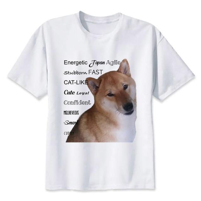 301bc0429 Shiba Inu t shirt men Summer print T Shirt boy short sleeve with white  color Fashion Top Tees MMR520