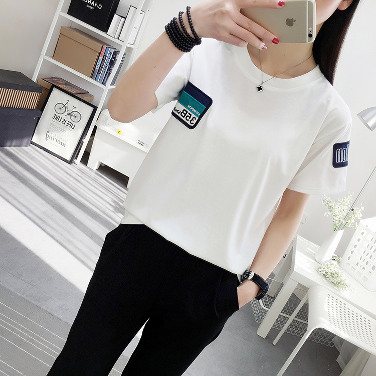 DZ T Shirt VOGUE Letter Printing Brand Female T-shirt Casual Loose Short Sleeve  KY51