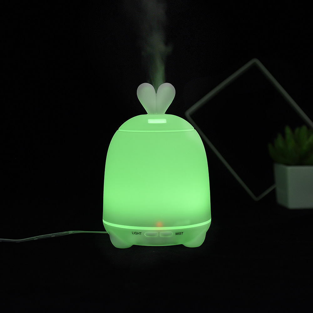 100Ml Cartoon Rabbit Aroma Humidifier LED Light For Home Office Mini Aromatherapy Essential Oil Diffuser Ultrasonic Atomizer