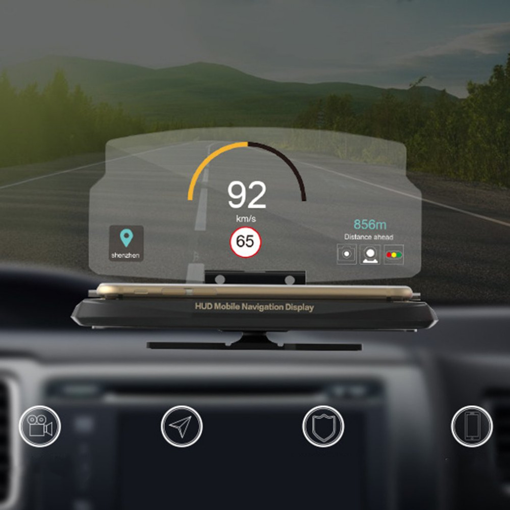 universal car hud head up display mobile phone gps. Black Bedroom Furniture Sets. Home Design Ideas