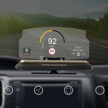 Universal Car HUD Head Up Display Mobile Phone GPS Navigation HUD Bracket For Smart Phone Car Stand Folding Holder Car-styling
