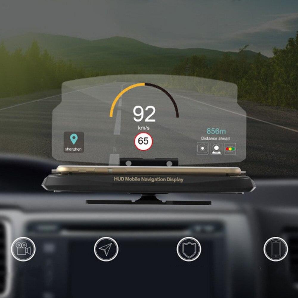 Universel De Voiture HUD Head Up Display Mobile Téléphone GPS Navigation HUD Support Pour Smart Téléphone De Voiture Titulaire Stand Pliant De Voiture-style