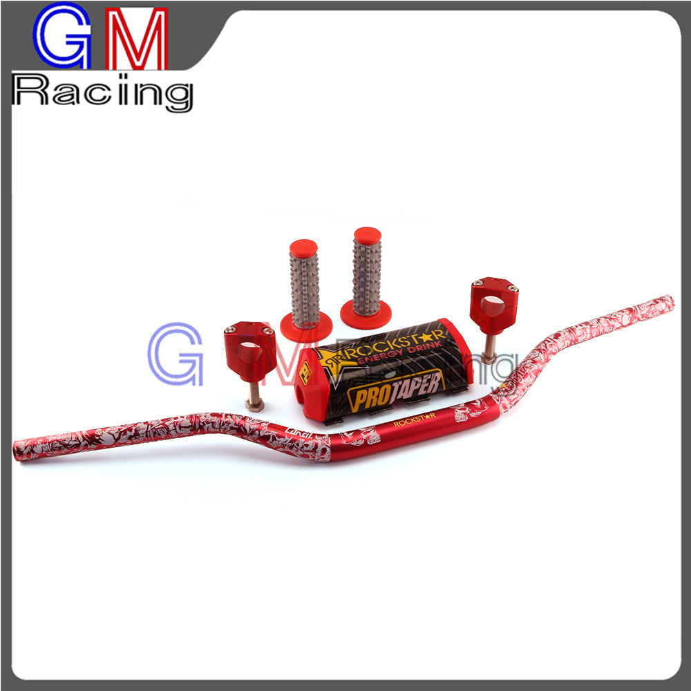 1 1/8 Fat Bar 28mm Guidons Poignées 28mm Pinces Pad Pour HONDA CR125R CR250R CRF250R CRF250X CRF450R CRF450X CRF450RX Moto