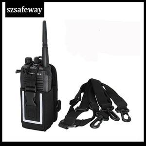 Image 4 - MSC 20M нейлон двухстороннее радио кожи переноски за спиной или на плече для Motorola GP328 для Hytera PD780/680 UV 82 Baofeng UV 5R
