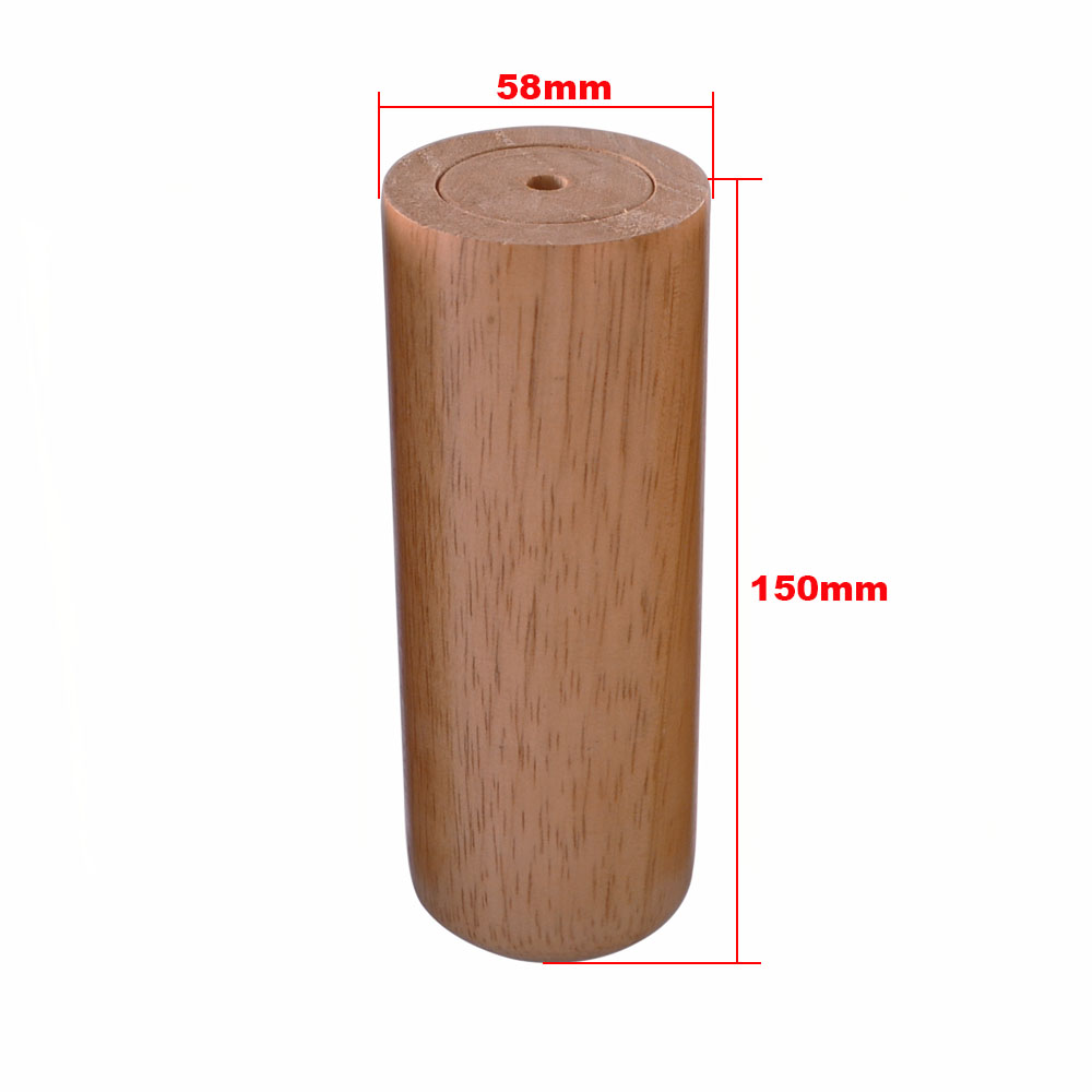 Furniture Legs Active 1pcs 5.8x15cm Round Wooden Material Sofa Chair Bed Cupboard Tea Table Tv Cabinet Wooden Furniture Legs Feet Attractive Fashion