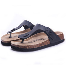 Fashion Women Slippers Flip Flops Summer Beach Cork Shoes Slides Girls Flats Sandals Casual Shoes Mixed Colors Plus Size 35-40