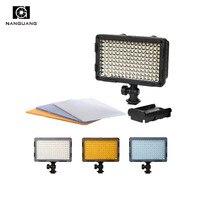 Bi Farbe 160 LED auf Kamera Licht Fotografische Licht für Canon Nikon Sony Kamera DV Camcorder-in Fotolampen aus Verbraucherelektronik bei